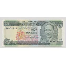 Barbades - 5 Dollars