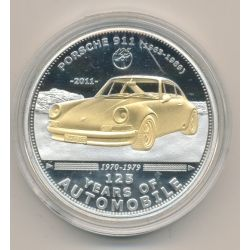 Palau - 5 Dollars 2011 - 125 ans automobile - Porsche 911
