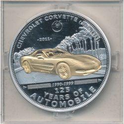 Palau - 5 Dollars 2011 - 125 ans automobile - Chevrolet corvette