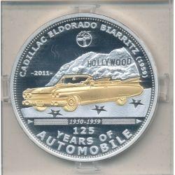 Palau - 5 Dollars 2011 - 125 ans automobile - Cadillac eldorado biarritz