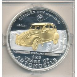 Palau - 5 Dollars 2011 - 125 ans automobile - Citroen 2 CV