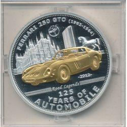 Palau - 5 Dollars 2012 - 125 ans automobile - Ferrari 250 GTO
