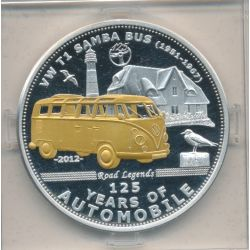 Palau - 5 Dollars 2012 - 125 ans automobile - Combo VW T1 SAMBA BUS