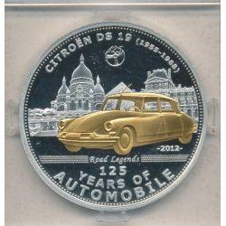 Palau - 5 Dollars 2012 - 125 ans automobile - Citroen DS 19