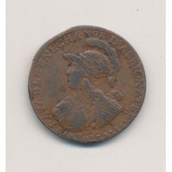 Monnaie de confiance - 2 Sols 6 deniers - 1791 AN3 - Six blancs à la minerve
