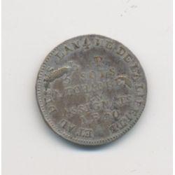 Monnaie de confiance - 5 Sols 1792 - AN 4 - de Lefèvre et Lesage