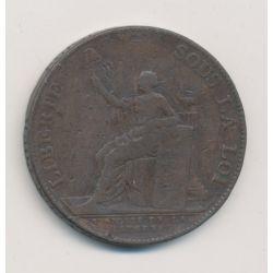Monneron 2 Sols à la liberté assise - 1791 - AN 3
