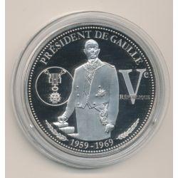 Médaille - Président De Gaulle - 1959-1969 - Collection Charles De Gaulle - 5e République