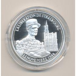 Médaille - Libération de Strasbourg - Général Leclerc - 23 novembre 1944 - La France Victorieuse - argent