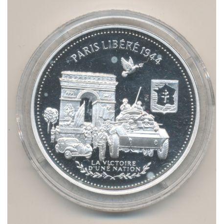Médaille - Paris libéré 1944  - La France Victorieuse - argent