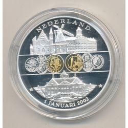 Médaille - Pays-Bas - 1 janvier 2002 - 1ère émission de l'euro