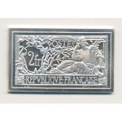 Timbre en argent - 2 Francs Merson - 1900/1982