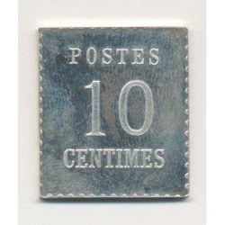 Timbre en argent - 10 Centimes - Alsace Lorraine - 1870/1981