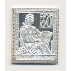 Timbre en argent - 30 Centimes - Type bouchon - 1900/1982