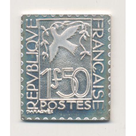 Timbre en argent - 1F50 Colombe de la paix - 1934/1983