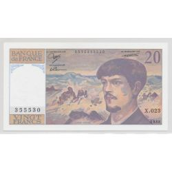 20 Francs Debussy - 1988 - alphabets au choix - NEUF