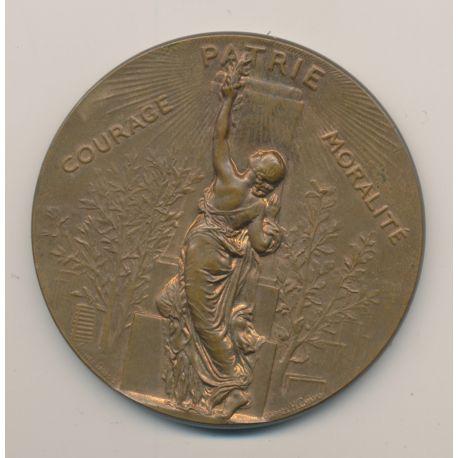 Médaille - Société de gymnastique de France - 1898 - bronze