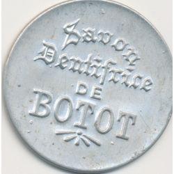 Timbre-monnaie - 5 Centimes vert sur fond rouge Botot