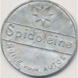 Timbre-monnaie - 10 Centimes rouge sur fond bleu Spidoleine