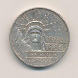 Piéfort 100 Francs Liberté 1986 brillant universel