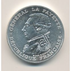 Piéfort 100 Francs La Fayette 1987 brillant universel