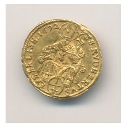Autriche - Salzbourg - 1/4 Ducat 1672 - Maximilien Gandolf Von Kuenbourg