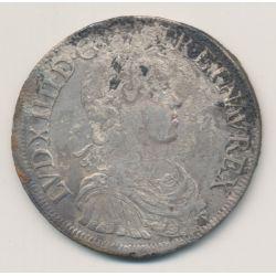Louis XIV - Écu à la mèche longue - 1647 G Poitiers