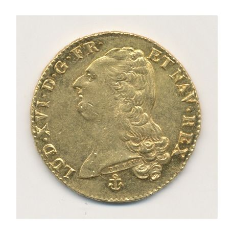 Louis XVI - Double louis d'or buste nu - 1786 H
