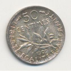 50 Centimes Semeuse - 1909