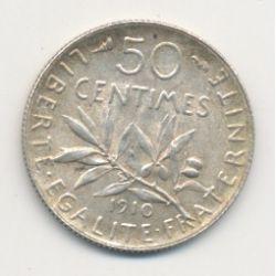 50 Centimes Semeuse - 1910