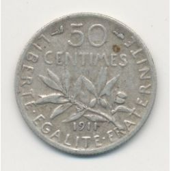 50 Centimes Semeuse - 1911