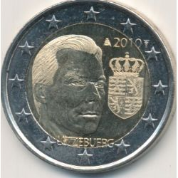 2 luxembourg 2010 armoiries du grand duc monnaies. Black Bedroom Furniture Sets. Home Design Ideas