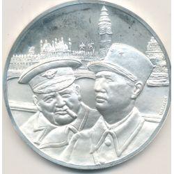 Médaille Hommage De Gaulle - De Gaulle et Churchill