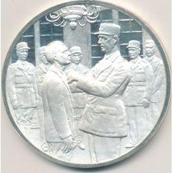 Médaille Hommage De Gaulle - De Gaulle et Jean Moulin