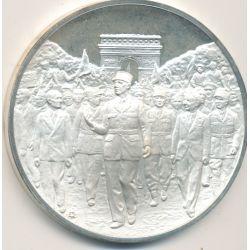 Médaille Hommage De Gaulle - Les champs élysées - 25 aout 1944