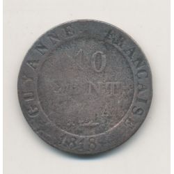 Guyane - 10 centimes - 1818 A