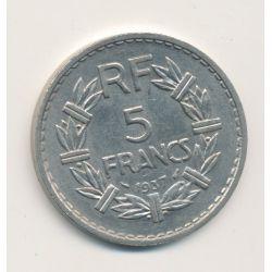 5 Francs Lavrillier - 1937