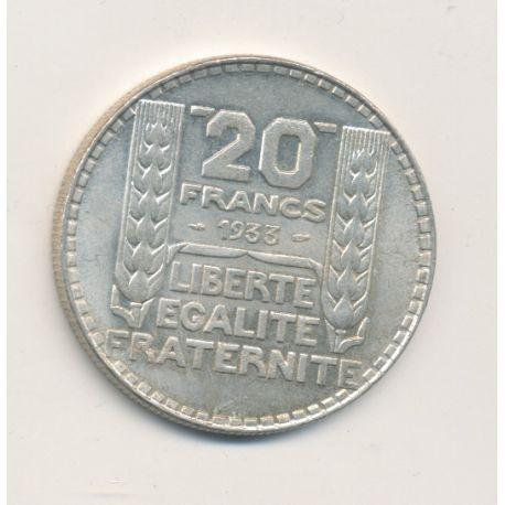 20 Francs Turin - 1933 - rameaux longs