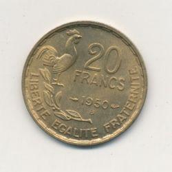 20 Francs G.Guiraud - 1950 B - 3 plumes