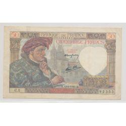 50 Francs Jacques coeur - 13.06.1940
