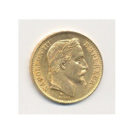 Napoléon III - 20 Francs Or - 1869 BB Strasbourg - Tête laurée
