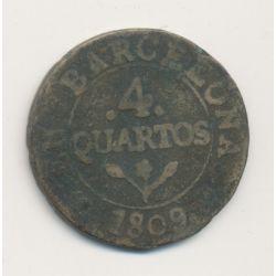 Espagne - 4 Quartos 1809 - Barcelone