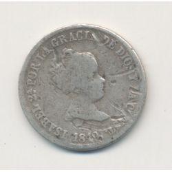 Espagne - 2 Reales 1849 CL - Isabelle II