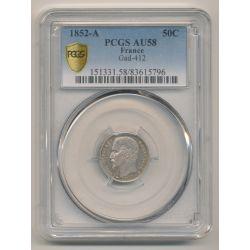 50 centimes Louis Napoléon Bonaparte - 1852 A Paris - PCGS AU58 83615796