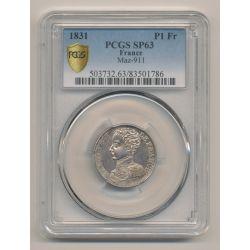 Henri V - 1 Franc - 1831 - PCGS SP63 83501786