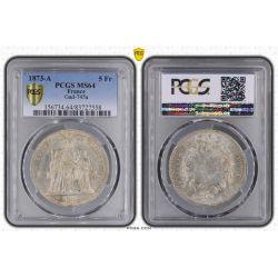 5 Francs Hercule - 1873 A Paris - PCGS MS64