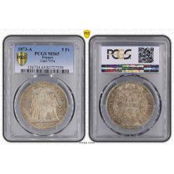 5 Francs hercule - 1873 A Paris - PCGS MS65