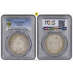 5 Francs Hercule - 1873 A Paris - PCGS MS66