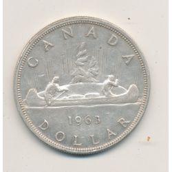 Dollar 1963 - Elisabeth II - canoe