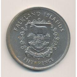 Iles Falklands - 50 Pence - 1977